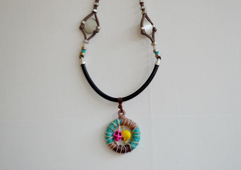 Necklace-leather