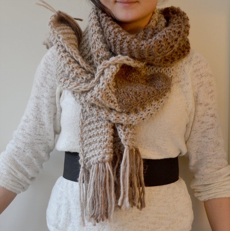 Knitted scarf-1c