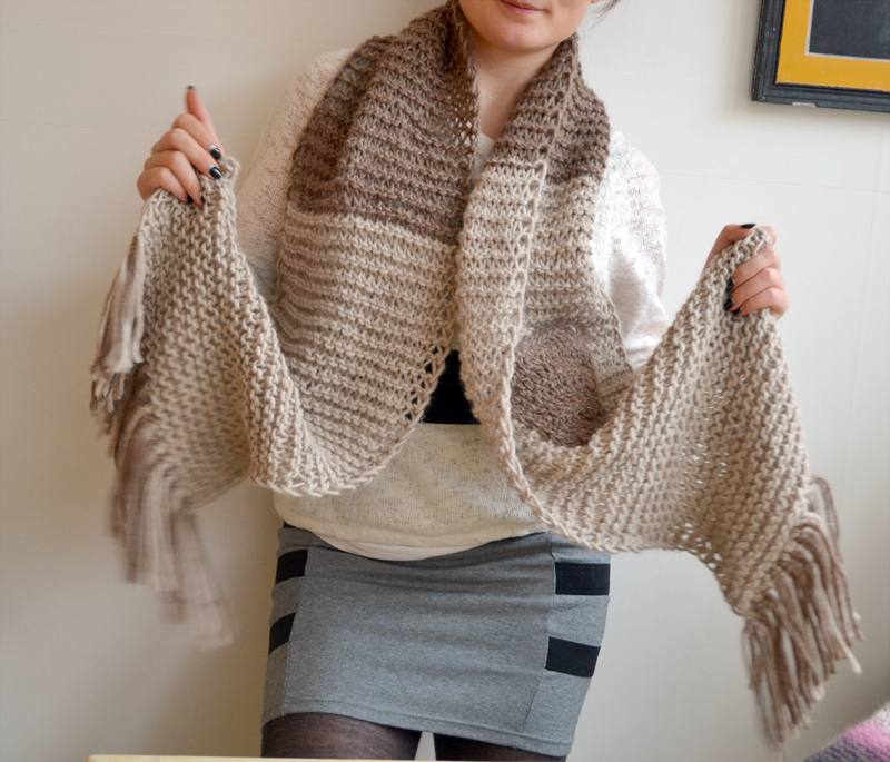 Knitted scarf-a